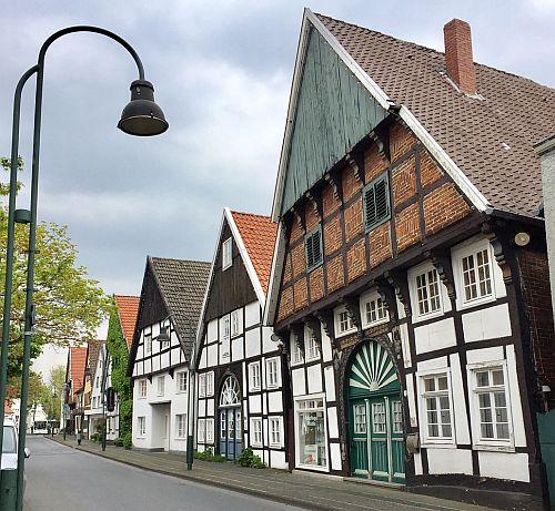 Fachwerkhäuser an der Langen Straße in Wiedenbrück